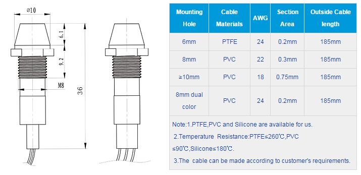 FL1M-8CW-D-1 Outline & installation size
