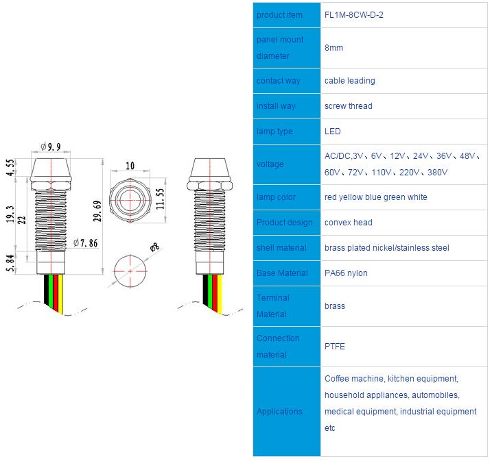 FL1M-8CW-D-2 Outline & installation size