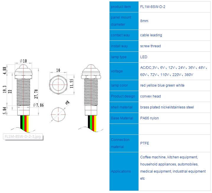 FL1M-8SW-D-2 Outline & installation size
