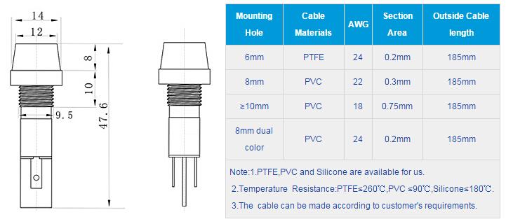 FL1P-10NJ-3 Outline & installation size