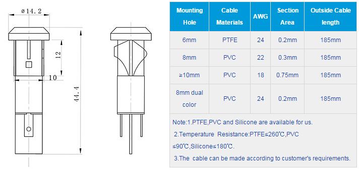 FL1P-10QJ-2 Outline & installation size