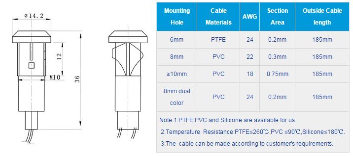 FL1P-10QW-2 Outline & installation size