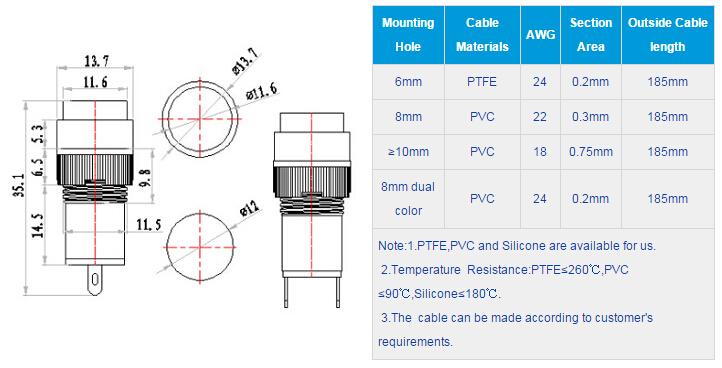 FL1P-12NJ-1 Outline & installation size