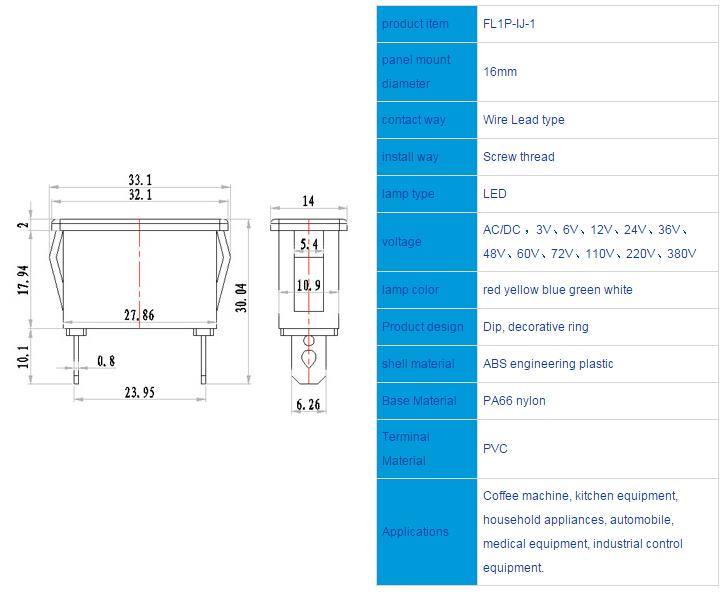 FL1P-22IJ-1 Outline & installation size