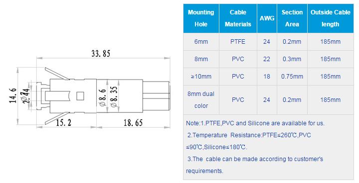 FL1P-6WQ-3 Outline & installation size