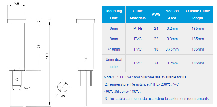 FL1P-8QJ-1 Outline & installation size