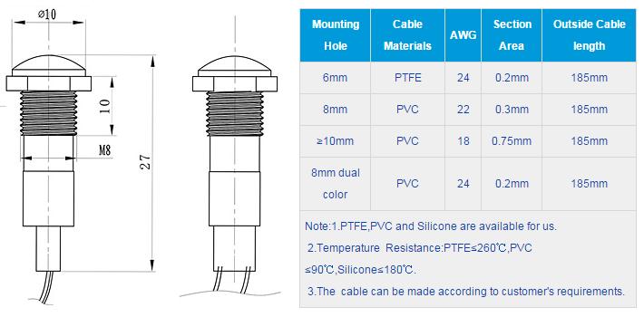 FL1P-8WN-1 Outline & installation size