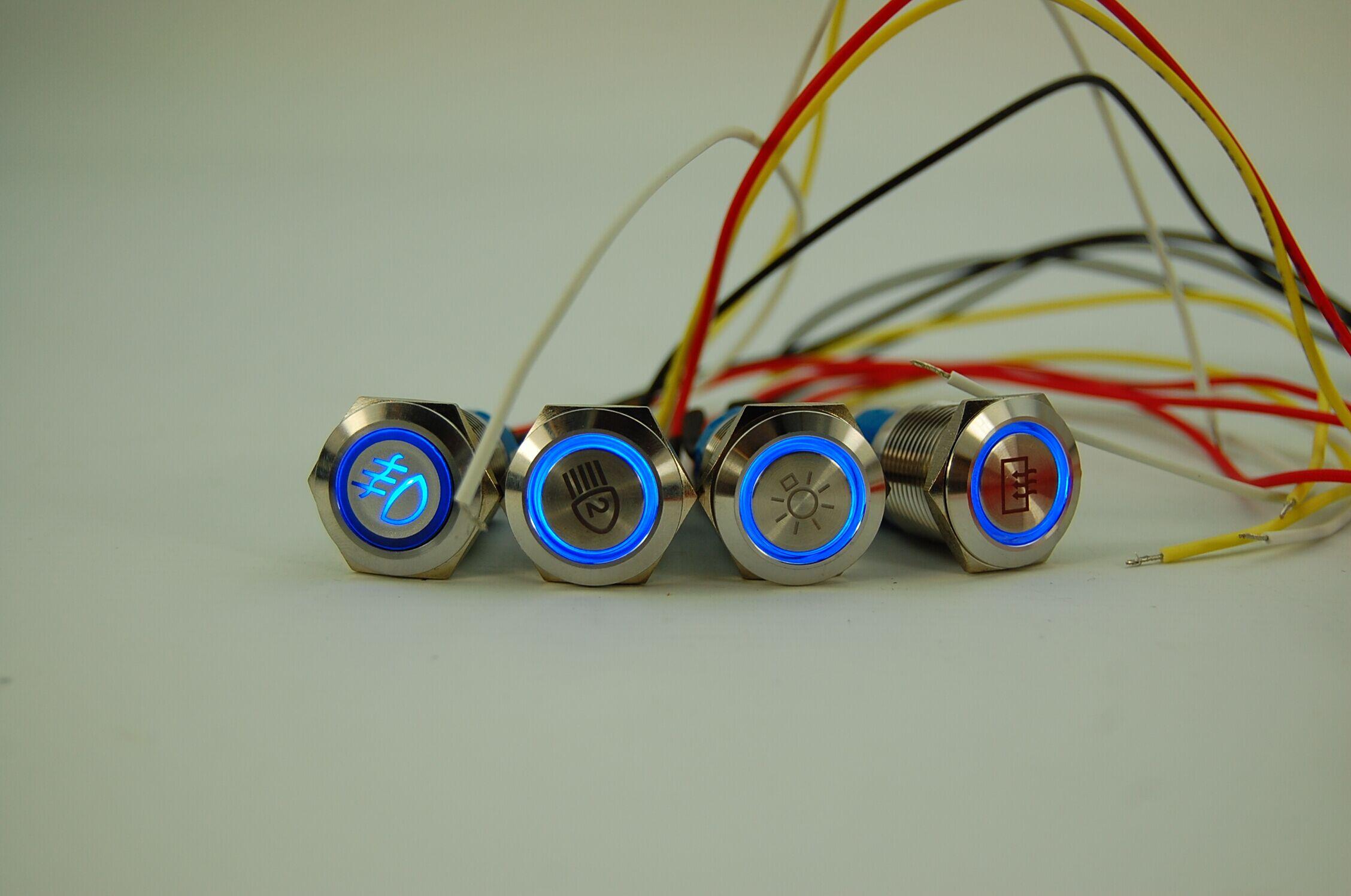 Indicatorlight 19mm Push Button Switch With Illuminated Symbol Schematic