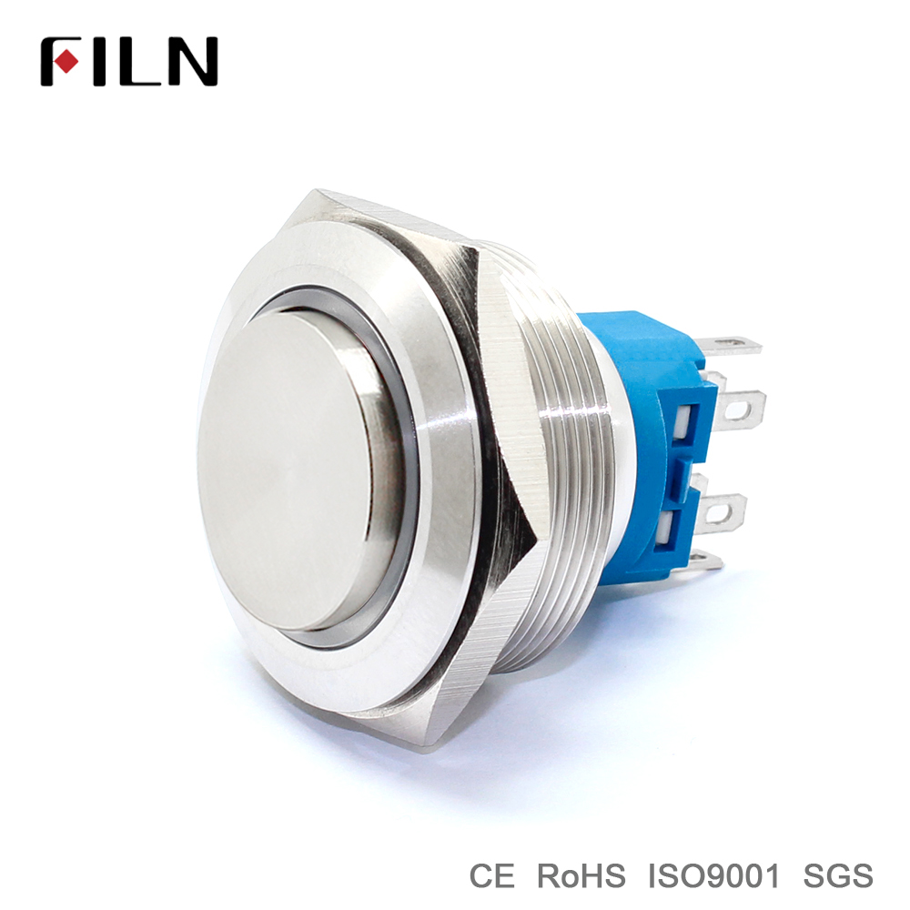 Indicatorlight New Metal Push Button Switch Switches Large 10mm Latching Red 30mm 118inch Ring Led Illuminated High Head