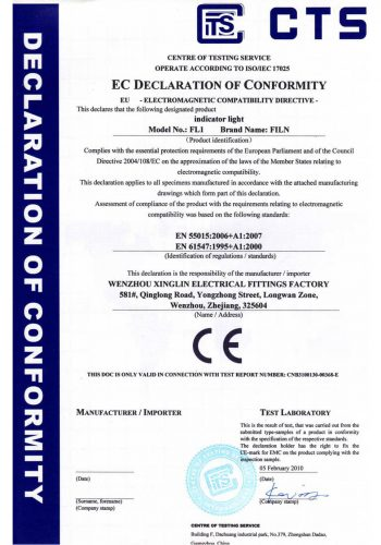 Indicator-Light-CTS-certificate