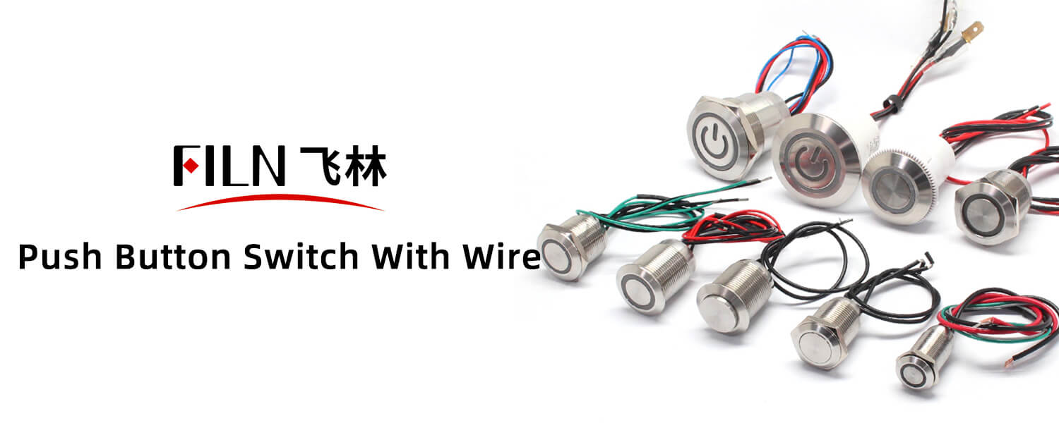 push button switch with wire