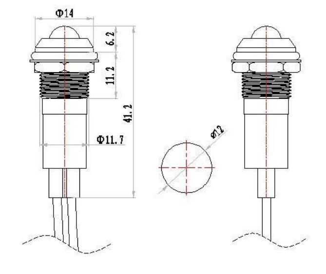 Filn 12MM Metal LED 5V Indicator Light