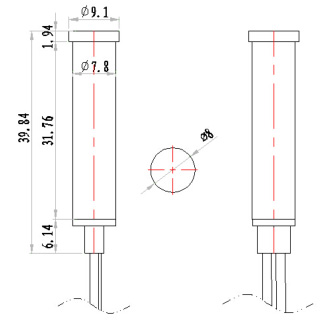 8mm 24v USA oven led plastic indicator light