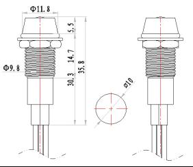 10mm 12v TWO COLOR LED Distribution box metal indicator light