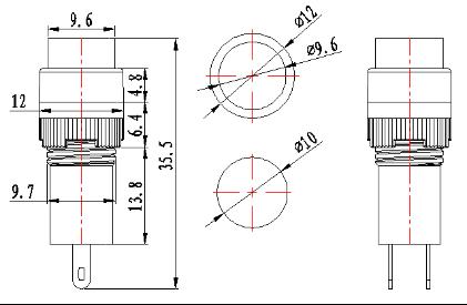 10mm 2/5 led Solar energy plastic indicator light