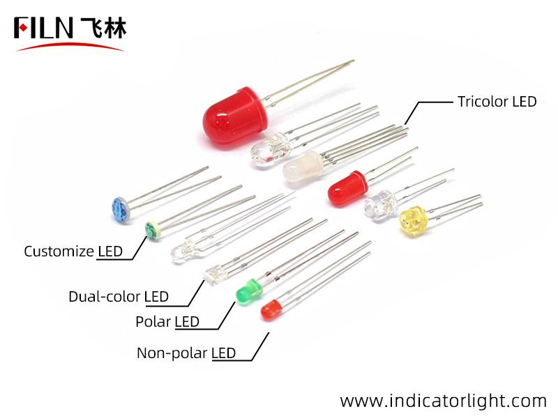 LED of the white indicator light