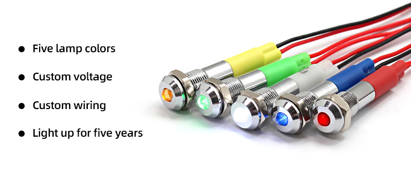 The service life of green indicator light can last 5 years.