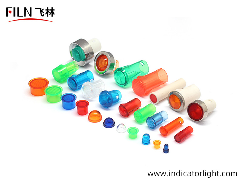 head plastic material of the 110V yellow indicator light is PC