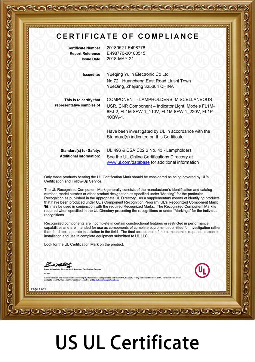 indiator-light-UL-certificate