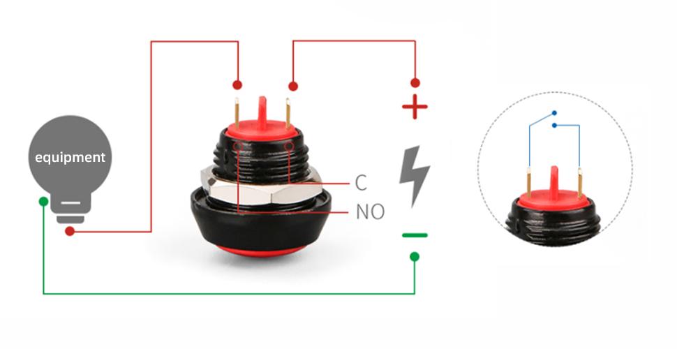 Button wiring method