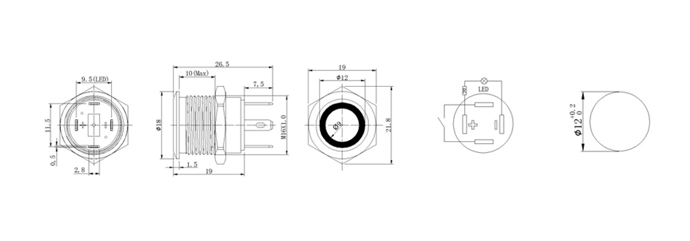 push Button switch drawings