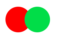 Red green double push button switch