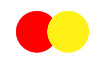 Red yellow double push button switch
