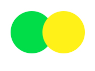 Green yellow double push button switch