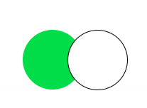 Green white double push button switch