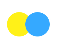 Yellow blue double push button switch