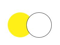 Yellow white double push button switch