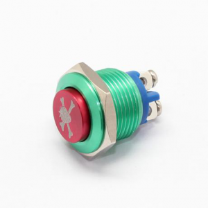 16mm screw terminal plated red button metal push button switch