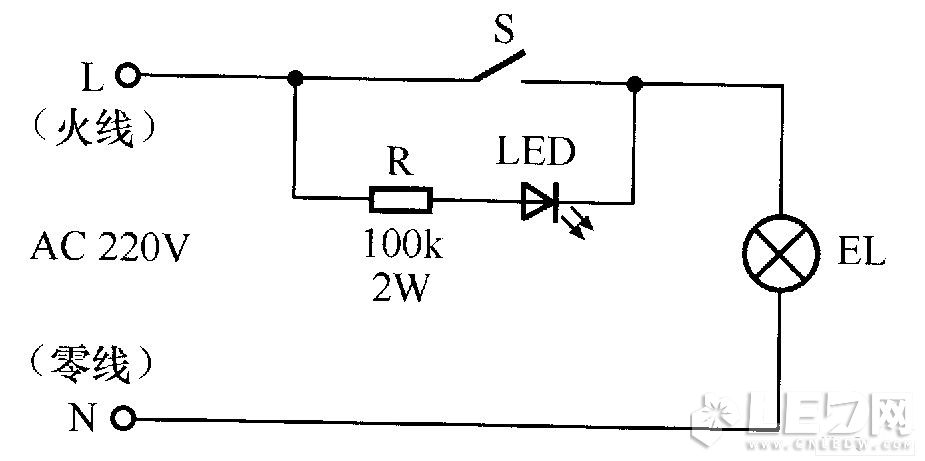 led switch indicator circuit