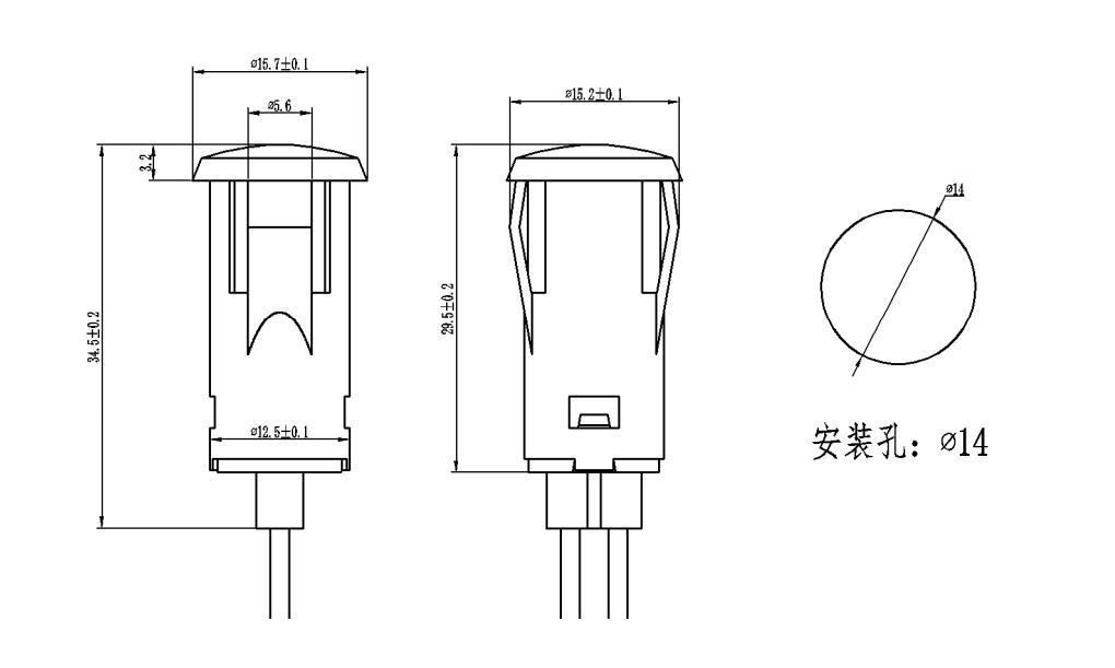 12v 110v 220v 14mm Mini Red Led Indicator Light Indicatorlight