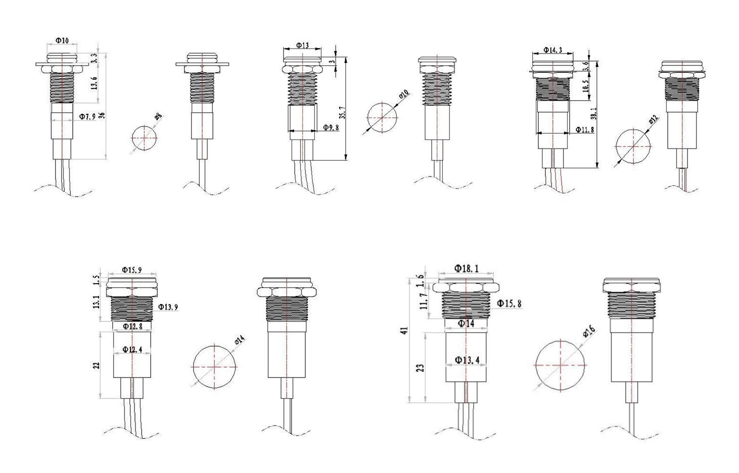 Indicator light drawing