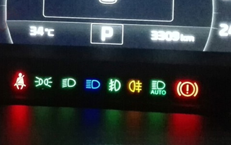 Fault indicator color
