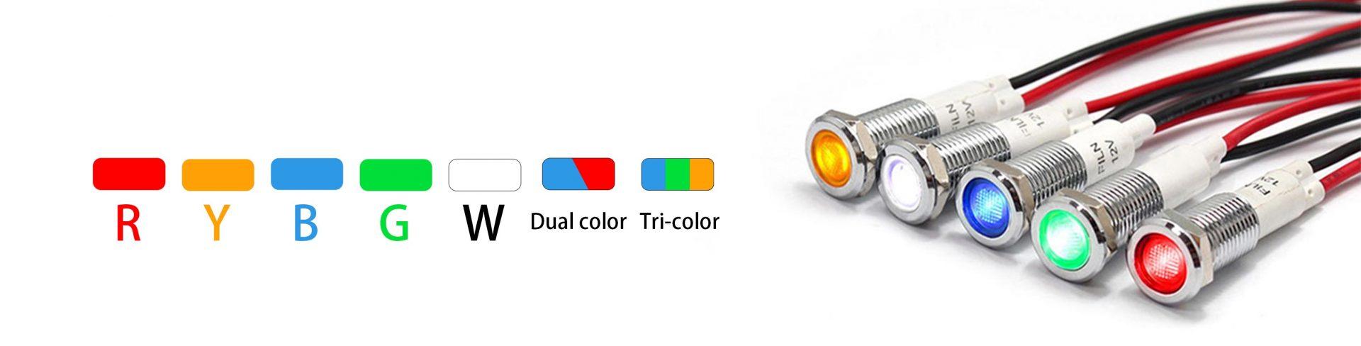 metal indicator lightss