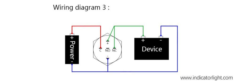 LED push Button switch wiring diagram