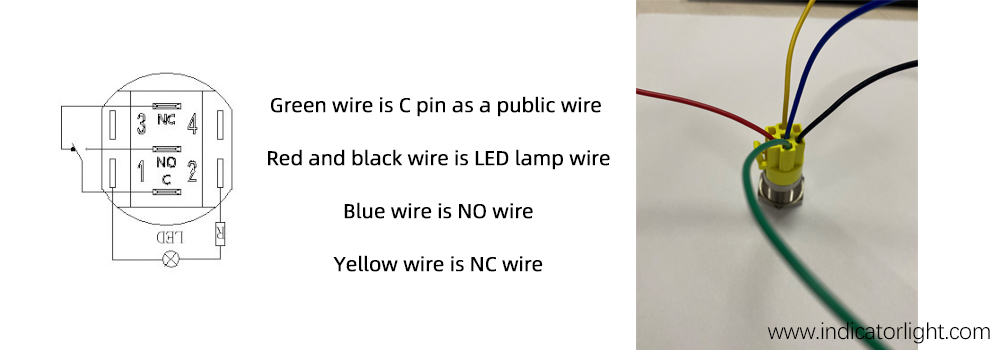 how to wire a push button switch