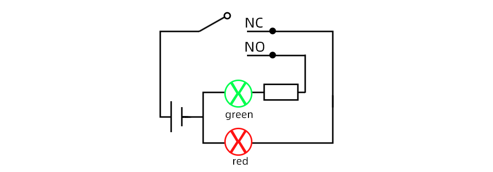 Two-color button wiring
