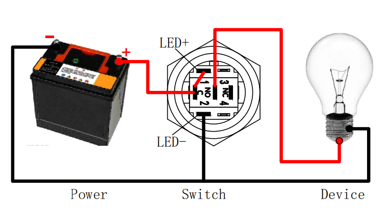 wire a push button switch
